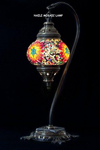 Mosaic lámpara de mesa, lámpara de techo, lámpara de, turco, marroquí lámpara, con cuello de cisne