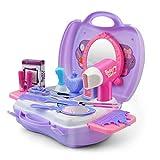 GizmoVine Maquillage Jouets Fille Enfants 2 3 4Ans Kits De Coiffure Simulation Princesse Cosplay Outil en Plastique Playset Cosmétiques (Jouet Maquillage)...