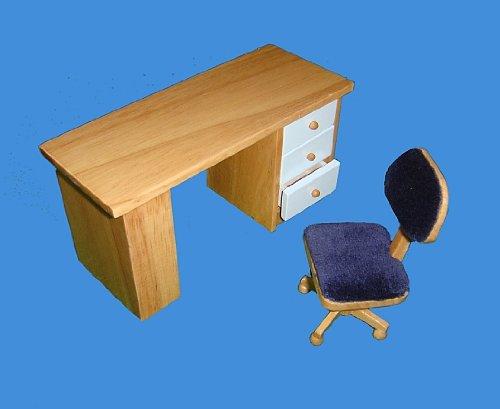 meuble-pour-maisons-de-poupees-miniature-bureau-2-pieces