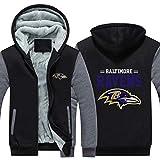 CCL NFL Football Kleidung Baltimore Ravens Trainingsanzug Verdickung Plus Samt Zipper Kapu