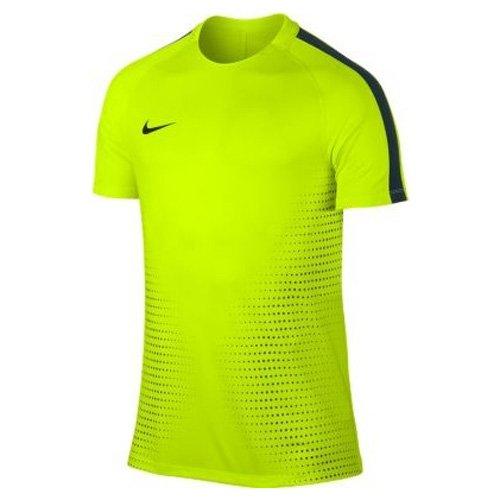 NIKE Herren M NK Dry Top Short Sleeve Squad CR7 Kurzarm-Fußballoberteil für, Volt/Algen, M (Kurzarm-t-shirt Dri-mesh)