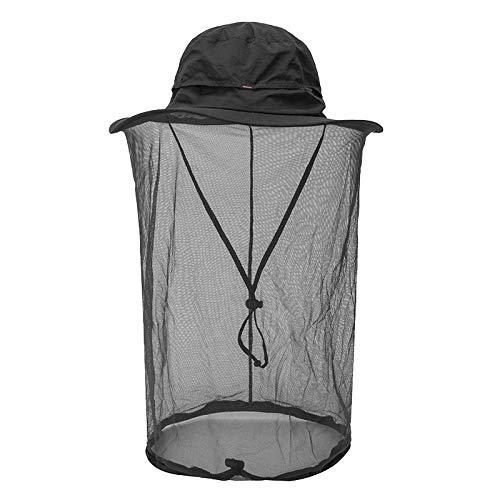 Moskito Kopfnetz Hut - Schnelltrocknender Sonnenhut mit Mückennetz für Männer und Frauen, Dschungel Gesichtsmaske Schutz vor Moskito Insekt Käfer Biene Mücken für Outdoor Angeln Wandern Gartenarbeit -