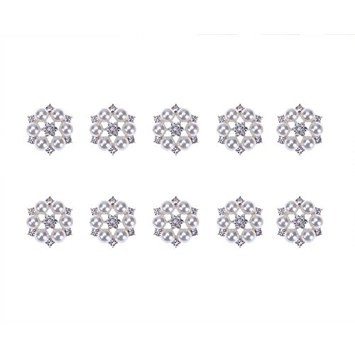 100DIY Material Strass Tasten für Kleidung Zubehör (Silber) (Material Taste)
