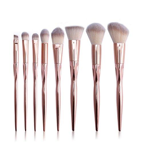 8PCS composent des brosses, Honestyi Brosse cosmétique de base Sourcil Eyeliner Rougir Concealer