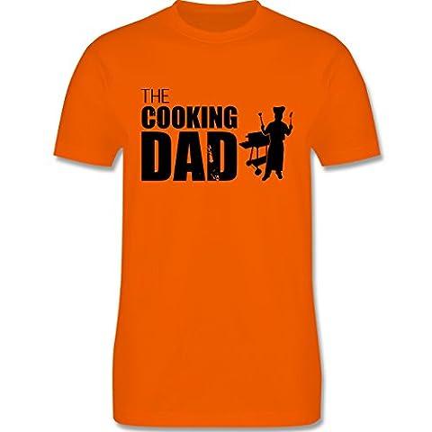 Grill - The cooking Dad - L - Orange - L190 - Herren Premium T-Shirt (Weihnachten Nachrichten Für Den Chef)