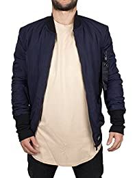 Sixth June Homme Logo Bomber Jacket, Bleu