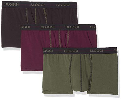 e892c185db694 Sloggi Men Start Hipster C3p Shorty, (Violet-Dark Combination Multicolore  M022), Medium (Taille Fabricant: 34) (Lot de 3 Homme