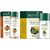 Biotique Bio Honey Water Clarifying Toner, 120ml and Biotique Bio Dandelion Visibly Ageless Serum, 40 ml