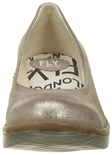 FLY London Damen Pump Pumps Gold (Luna/camel)