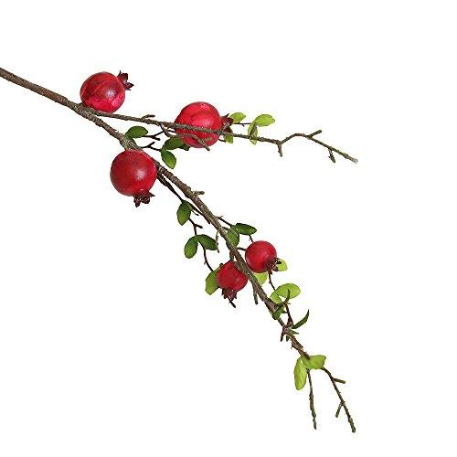 (RWINDG gefälschte künstliche Rose Frucht Granatapfel Beeren Bouquet Floral Garten Home Decor Kunstblumengestecke Sonnenblumen Topfpflanzen BlumensträUßE)