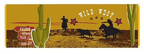 Boland 54310–Banner Banner Polyester Wild West, 220x 74cm, Mehrfarbig