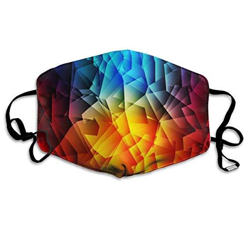 Anti-Allergie Maske für Jungen und Mädchen, Anti-Allergie, Ohrschlaufe, Halbgesicht, Gesichts- und Nasenschutz, winddicht, verstellbar, elastisches Band, Rot und Blau abstrakter Hintergrund