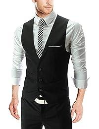 LIANIHK Clásico Waistcoat Chaleco Hombre Blazers Sin Mangas 4 colores