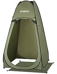 Enkeeo Tente Toilette Tente de Confidentialité pour Changement, Pansement, Douche, Toilette, Taille 120 x 120 x 190cm, Sac de Transport inclus, Armée Verte