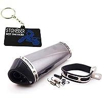 stoneder Racing 38 mm silencio extraíble de silenciador de escape Silenciador Clamp para pit suciedad Trail