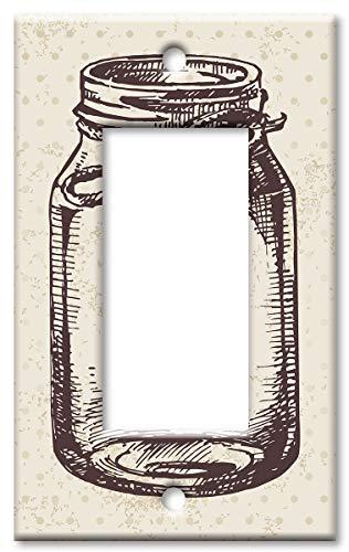 Mason Jar Übergroße Wandplatte Rocker Mehrfarbig 2 Gang Faceplate