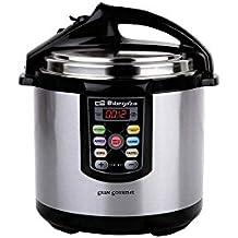 Orbegozo HPE 6075 - Olla a presión, capacidad 6 litros, acero inoxidable, color gris