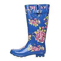 Kangol Printed Festival Wellington Boots Junior Girls Floral Wellies Gum Boot