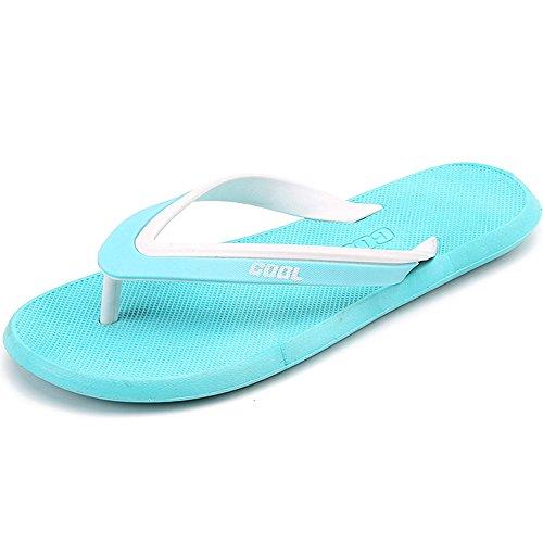 Jackshibo Homens Esportes E Dedos Dos Pés Ao Ar Livre Trenner Sandálias Flip Flops Azul