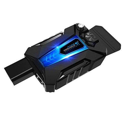 LEDMOMO Mini Universal Laptop Kühler USB Lüfter Luftkühler Einstellbare Geschwindigkeit Notebook Kühler