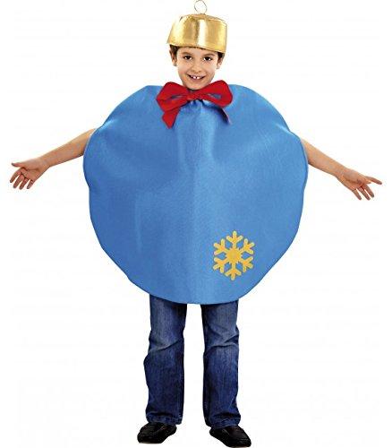 Imagen de disfraz de bola de navidad azul para niños en varias tallas alternativa