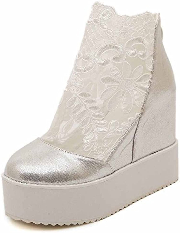 GLTER Femmes Coin De Chaussures Plate-forme L'automne Chaussures De Chaussures Simples Chaussures Fil Maille En Dentelle Gros...B074DDQRNDParent b5766b