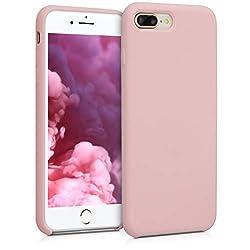 kwmobile Apple iPhone 7 Plus / 8 Plus Hülle - Handyhülle für Apple iPhone 7 Plus / 8 Plus - Handy Case in Peach Skin