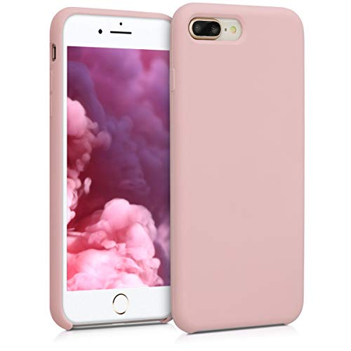 Kwmobile apple iphone 7 plus / 8 plus cover - custodia per apple iphone 7 plus / 8 plus in silicone tpu - back case cellulare pesca