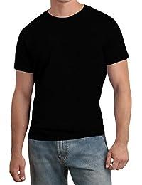 Hanes Nano-T - Herren T-Shirt mit Rundhalsausschnitt - Baumwolle - Einfarbig - Schwarz