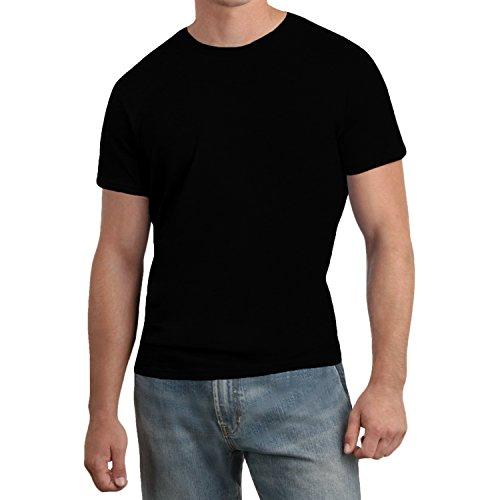 hanes-nano-t-herren-t-shirt-mit-rundhalsausschnitt-baumwolle-einfarbig-schwarz-l