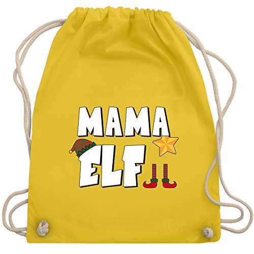 Weihnachten & Silvester - Partnerlook Elf Mama - Unisize - Gelb - WM110 - Turnbeutel & Gym Bag