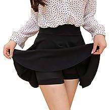 XWBO Damen Rock High Waist Minirock Kurz Shorts Röcke A-Line Faltenrock  Unterrock Tanzrock mit 3f52326f83
