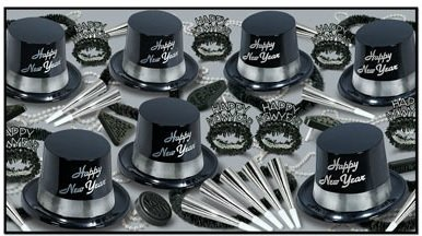 Gold Legacy-Legend schwarz & gold & silber New Year 's Party Sortiment Kit for 25 silber/schwarz