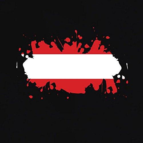 TEXLAB - Splash Österreich - Herren T-Shirt Schwarz