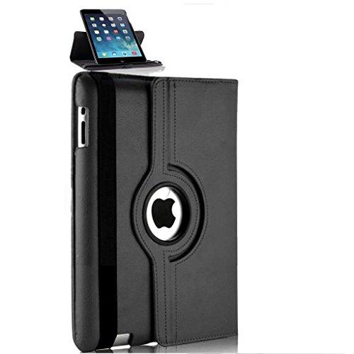 Nouveau design noir en PU imitation cuir avec support rotatif à 360° Étui pour iPad Mini