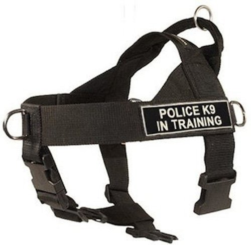 DT-Universal-No-Pull-Dog-Harness-Police-K9-in-Training-Black-X-Small-Fits-Girth-Size-53cm-to-635cm