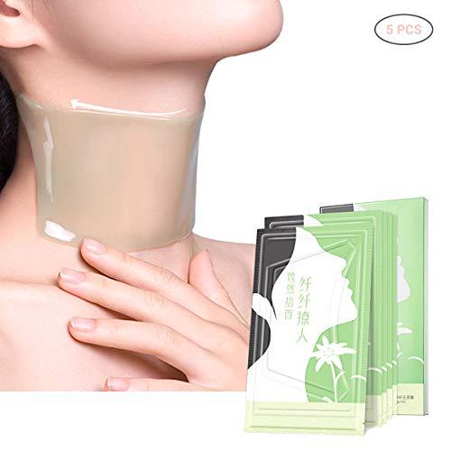 Surenhap Hals Maske, Silikon Nackenpolster Hals Pad Anti-Falten/Aging Glatte Haut/Neck Pad Neck Whitening Pad für Hals Hautpflege einen faltenfreieren, strafferen Hals (5Pcs)