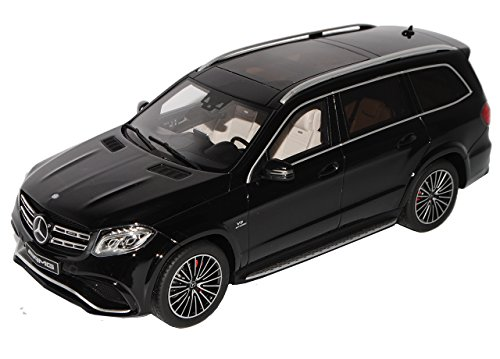 GT Spirit Mercedes-Benz GLS 63 AMG X166 SUV Obsidian Schwarz Modell Ab 2012 Ab Modellpflege 2015 Nr 118 1/18 Modell Auto mit individiuellem Wunschkennzeichen