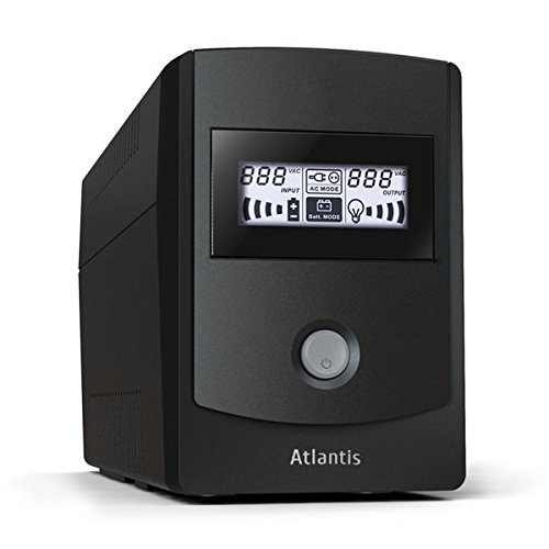Atlantis A03-HP701 700VA UPS, 360W, Sinewave Line Interactive Technology, Display LCD e LED, Nero