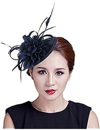 Y-BOA Chapeau Bibi Voile Plume Fleur Cheveux Cérémonie Mariage Femme