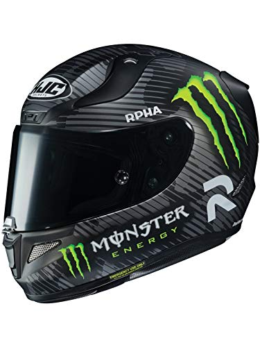 Casco Moto Hjc Monster Energy Special Rpha 11 Nero (M, Nero)