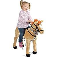 Pink Papaya Plüschpferd XXL, Stehpferd 65-75cm Plüsch-Pferd, Hochwertiges Spielpferd Zum Drauf sitzen, mit Verschiedenen Sounds, Spielzeug Pferd bis 100 kg belastbar preisvergleich bei kleinkindspielzeugpreise.eu