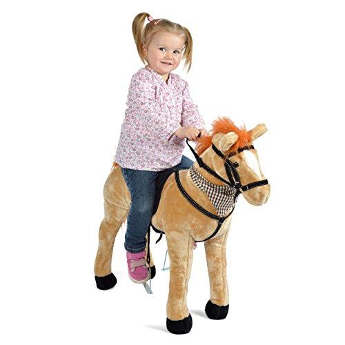 Pink Papaya Plüschpferd XXL 75 cm - Stehpferd Marie - fast lebensgroßes Spielpferd zum drauf sitzen bis 100 kg belastbar, mit verschiedenen Sounds, Spielzeug Pferd zum Träumen - Lebensgroße Plüsch-pferd