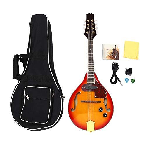 Elektrische traditionelle Mandoline, 8-Saiter-Musikinstrument Sunburst A Style Acoustic Mandoline 8 Dash Kit