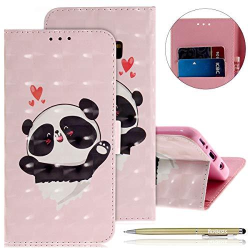 Herbests Kompatibel mit Lederhülle Galaxy S9 Plus Bunt Ledertasche Handytasche Flip Case Retro Glitzer Bling Glänzend Leder Hülle Handy Schutzhülle Klapphülle Handyhülle,Niedlich Panda - Chirurgische Retraktoren