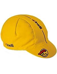 Cinelli Supercorsa - Gorra de ciclismo para hombre, color amarillo, talla única