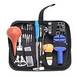 Uhr Werkzeuge 16 teile/los Uhr Reparieren Werkzeug Set Kit Uhrengehäuse Batterie Öffner Link Pins Entferner Schraubendreher Für Uhrmacher - Schwarz