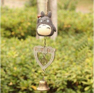 Carino giapponese Totoro auto carillon ornamenti porta Trim piccolo campana