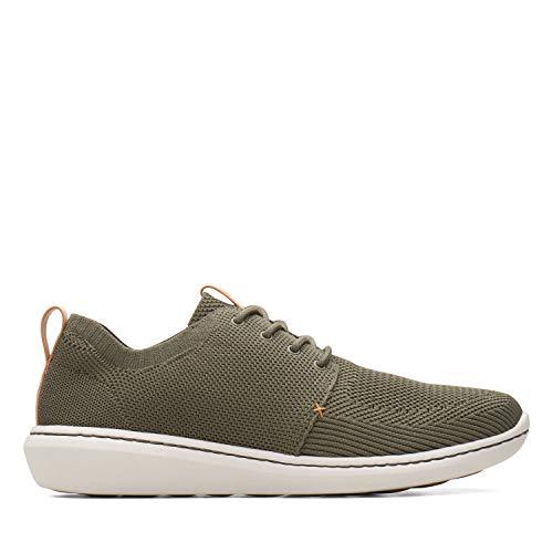 Clarks Herren Step Urban Mix Sneaker, Grün (Khaki), 43 EU (Schuhe Clark Von)