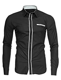 Kayhan Herren Hemd London, Grau(XL)